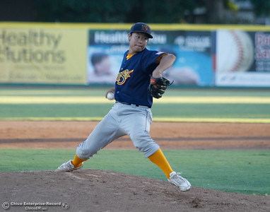The Gold Sox's Shinpei Kanamori  during a baseball game between the Chico Heat and the Marysville Gold Soxs June 23, 2016 in Chico, Calif. (Emily Bertolino -- Enterprise - Record)