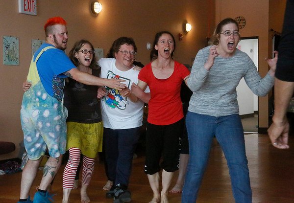 PHOTOS: Clown dance and physical theater class at Synapsis