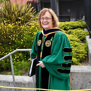 Dr. Lisa A. Rossbacher, President HSU. José Quezada—For Times-Standard