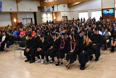 The Sequoia Conference Room was packed for the court and community schools graduation. (José Quezada—For the Times-Standard)
