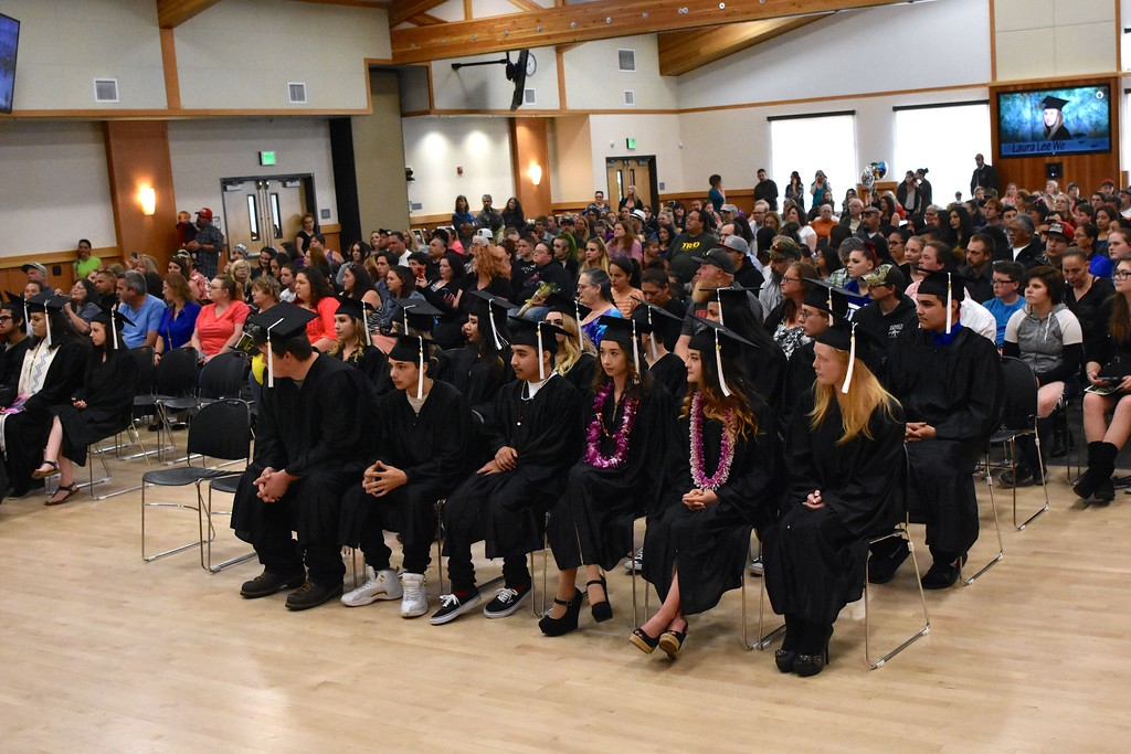 . The Sequoia Conference Room was packed for the court and community schools graduation. (José Quezada�For the Times-Standard)