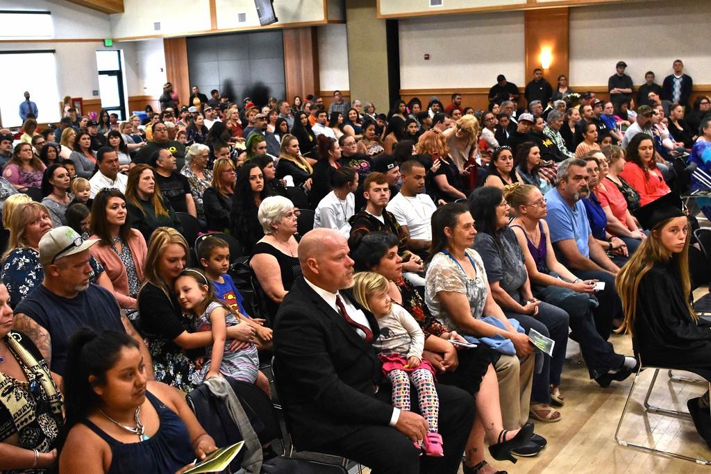 . Families celebrate graduates of Eel River Community School, Eureka Community School, Garberville Community School, New Horizons High School and Von Humboldt High School received their diplomas. (José Quezada�For the Times-Standard)