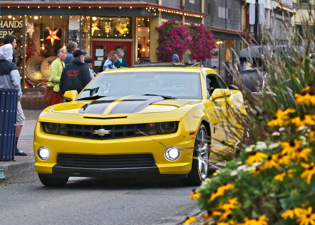 . Shaun Walker � The Times-Standard  A late model Chevrolet Camaro rolls down Second Street during the Cruz\'n Eureka cruise through Old Town on Friday evening. The Boys and Girls Club of the Redwoods fundraising event continues today with the car show on Second from 10 a.m. to 4 p.m.