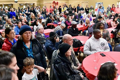 Looking southwest at the D Street Neighborhood Center during the David Josiah Lawson celebration. José Quezada—For the Times-Standard