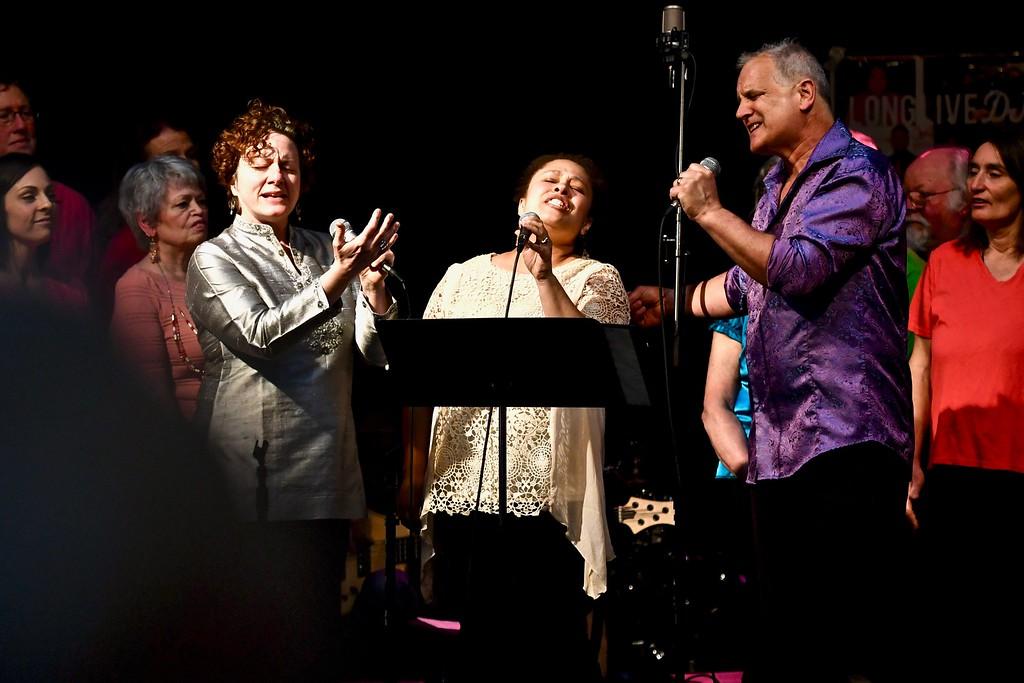 . The Arcata Interfaith Gospel Choir performed for the David Josiah Lawson celebration Sunday. José Quezada�For the Times-Standard
