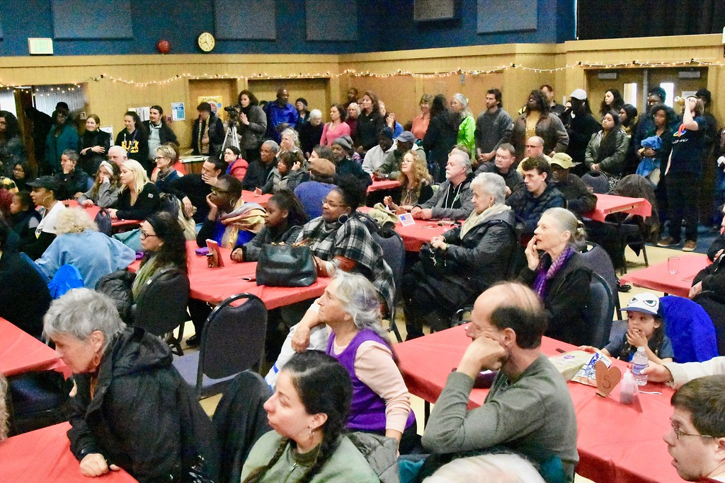 . Looking southeast at the D Street Neighborhood Center during the David Josiah Lawson celebration. José Quezada�For the Times-Standard