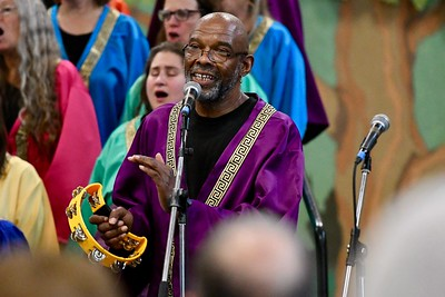Jeff Thomas of the Arcata Interfaith Gospel Choir. José Quezada—For Times-Standard