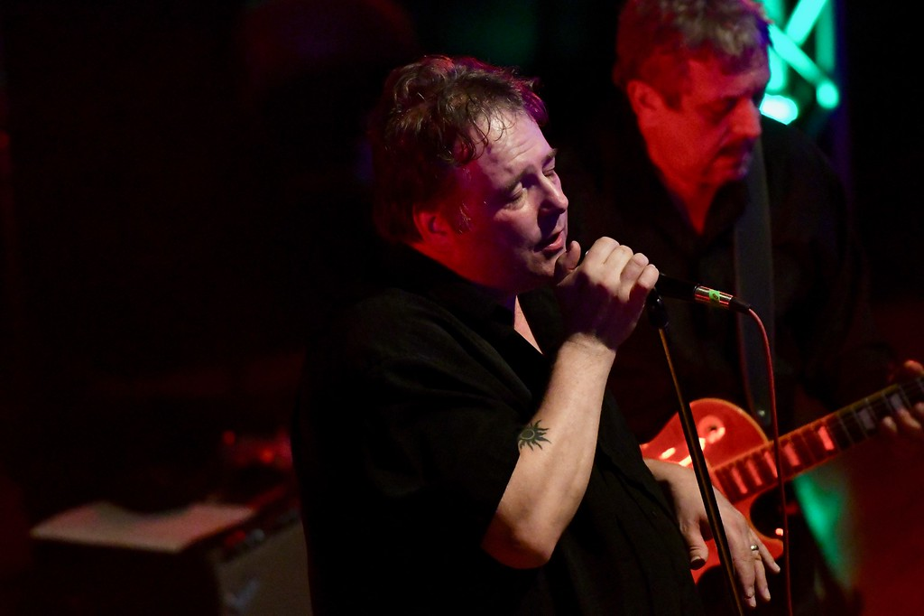 . Lead vocalist Phil Pemberton of Roomful of Blues brings the crowd to a hush in a tribute to Louisiana. José Quezada�For the Times-Standard