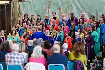The Arcata Interfaith Gospel Choir open Sunday with a service at the Adorni Center. José Quezada—For Times-Standard
