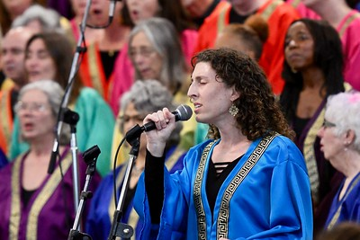 Jenni Brown of the Arcata Interfaith Gospel Choir. José Quezada—For the Times-Standard
