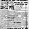 The Denver Post, Tuesday, December 9, 1941. Air Raid Alarms Put New York And Wide Area Of East On Alert. The Denver post Library Archive