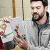 KEVIN HARVISON  <br /> Brian Flynn, McAlester resident and Major League pitcher for the Texas Rangers, visits William Gay Kindergarten Center to read to students. Flynn read Pete the Cat and shared the importance of reading and education to the students.
