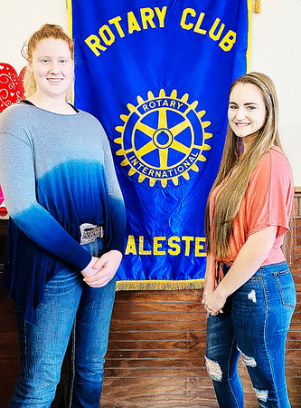 SUBMITTED PHOTO   Lori Few<br /> Rotary Club of McAlester has named McAlester Seniors Hope Johnson, left and Breighanna Smith, right as Rotary Club Students of the Week.