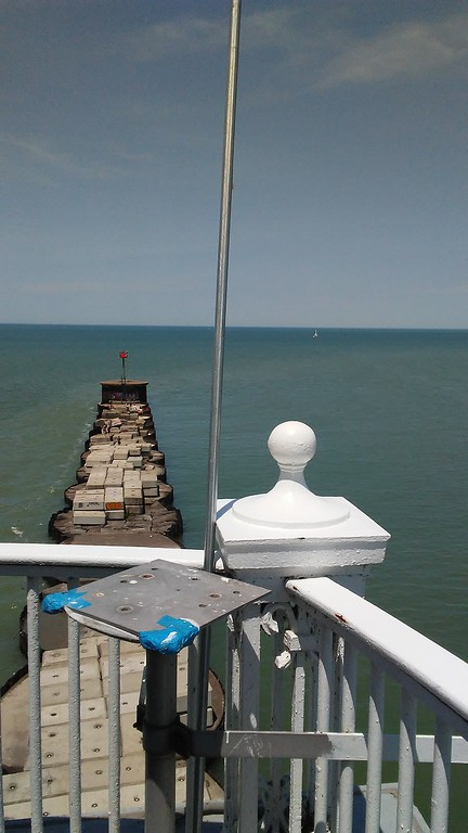 . A look inside the Fairport Harbor West Breakwater Lighthouse at an open house June 10 in honor of its 92nd birthday. Owner Sheila Consaul has been renovating the interior for a summer home since purchasing it in 2011. (Betsy Scott/ The News-Herald)