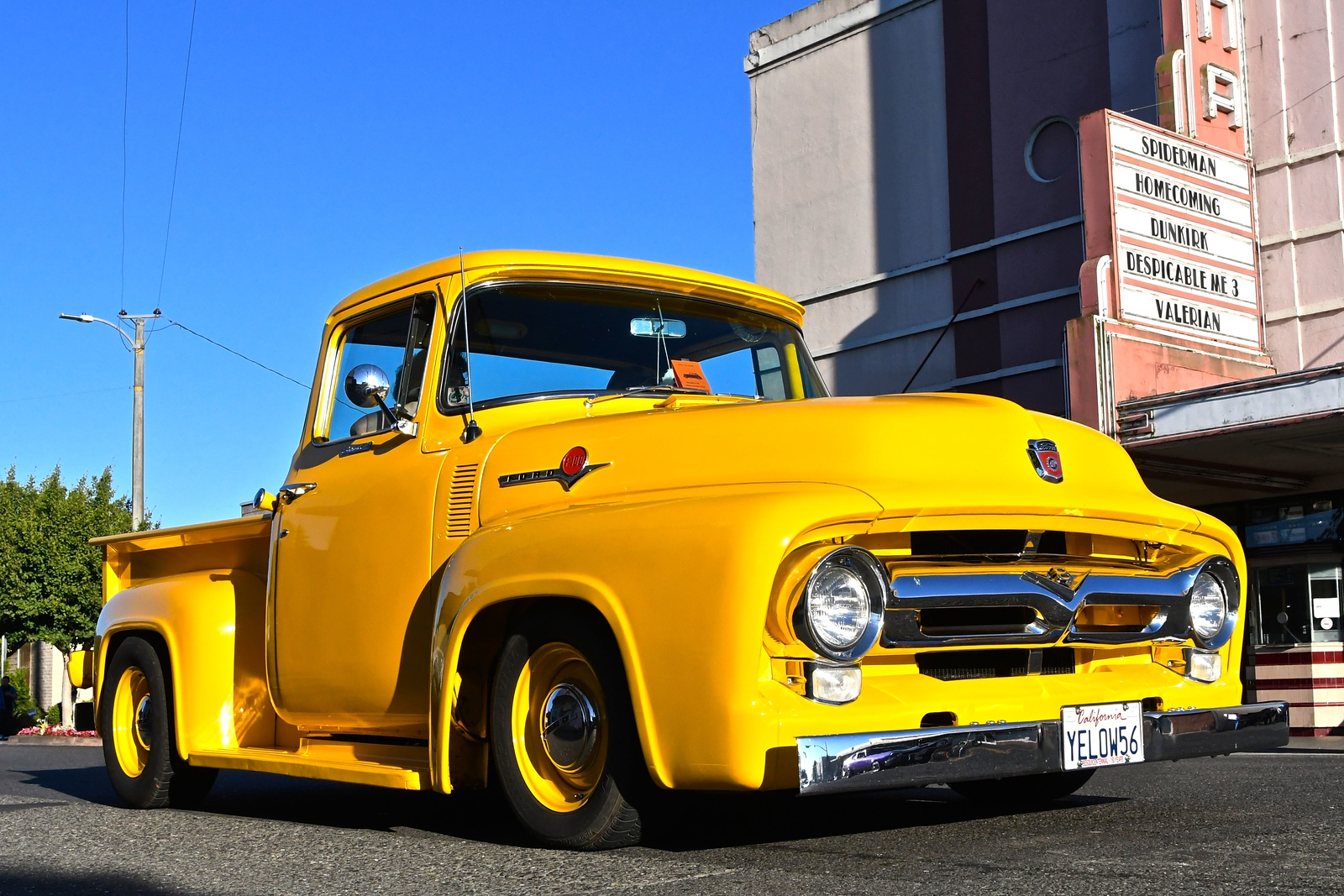 A 1956 Ford pickup makes it presence known at the Fortuna AutoXpo. José Quezada — For the Times-Standard