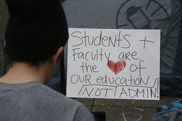 PHOTOS: HSU Walkout protests planned budget cuts