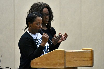 Michelle Charmaine Lawson, mother of slain Humboldt State University student David Josiah Lawson and her daughter. José Quezada—For Times-Standard