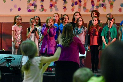 The Arcata Elementary School Choir. José Quezada—For Times-Standard