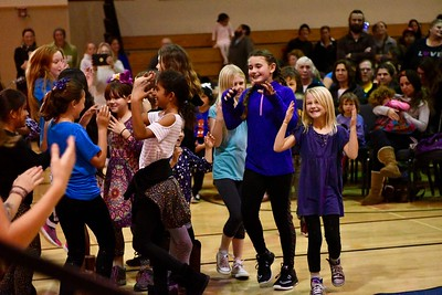The Arcata Elementary School children perform a group dance at the Bowl of Beans event. José Quezada—For Times-Standard