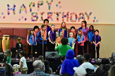 The Arcata Interfaith Youth Gospel Choir sing Hold On My Brother. José Quezada—For Times-Standard