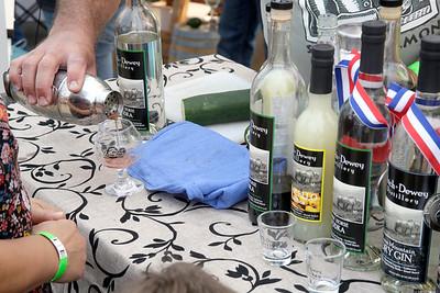 Shaun Walker — The Times-Standard  A Dutch and Dewey Distillery representative pours a cocktail sample.