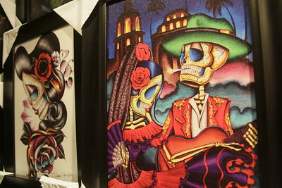 Shaun Walker — The Times-Standard  Heart of Mexico has colorful prints from a variety of artists.