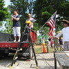 Richard Payerchin - The Morning Journal <br> Adele Fussner, left, reads a poem during the ceremony after the parade of the annual Linwood Park 4th of July Parade, held on July 4, 2016, in Vermilion. Hundreds of people came out for the patriotic celebration of the nation's birthday.