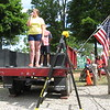 "Richard Payerchin - The Morning Journal <br> Vermilion native Dana Smith sings ""The Star-Spangled Banner"" during the ceremony after the parade of the annual Linwood Park 4th of July Parade, held on July 4, 2016, in Vermilion. Hundreds of people came out for the patriotic celebration of the nation's birthday."