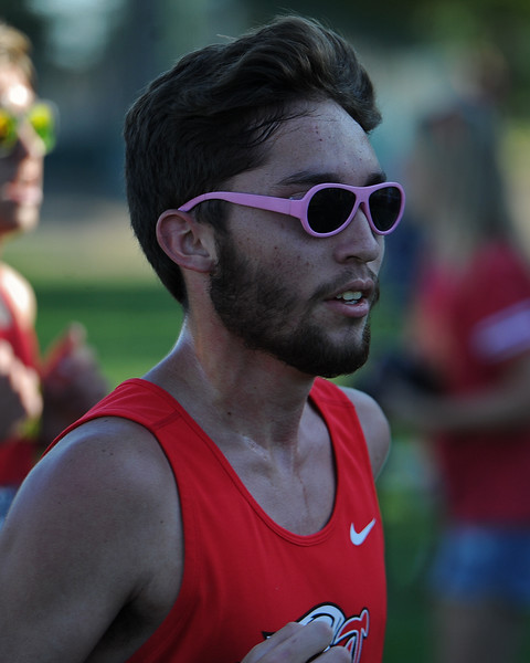 Loveland's Alex Hershberger runs at the Loveland Sweetheart Invitational on Friday, Sept. 21, 2018 at Loveland High School. (Sean Star/Loveland Reporter-Herald)