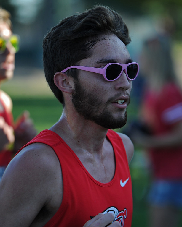 . Loveland\'s Alex Hershberger runs at the Loveland Sweetheart Invitational on Friday, Sept. 21, 2018 at Loveland High School. (Sean Star/Loveland Reporter-Herald)