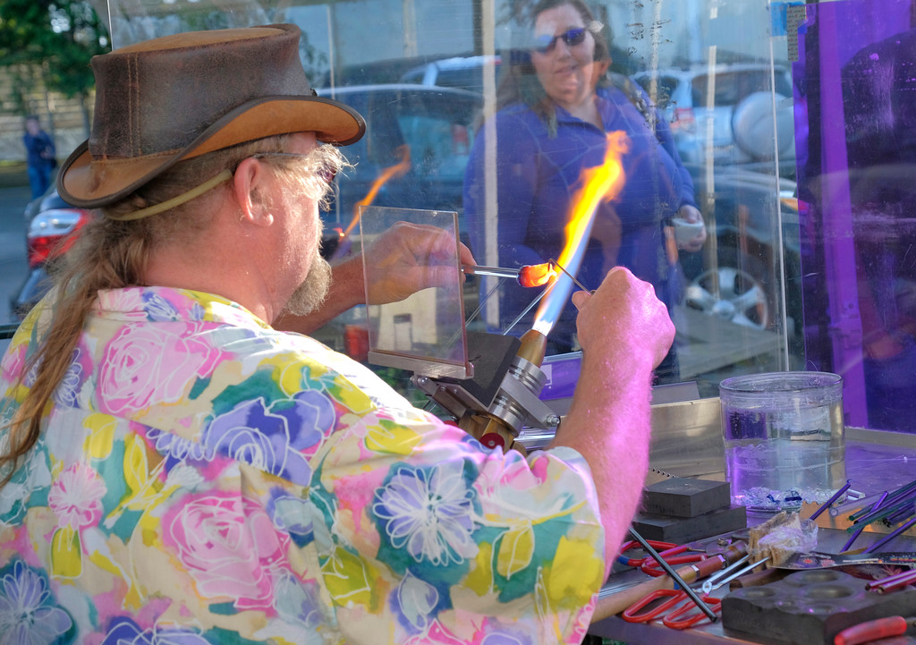 ". Shaun Walker � The Times-Standard  Toby Logic from Paradise, Nevada, demonstrates his glass skills at the inaugural Humboldt Marble Weekend at Redwood Acres in Eureka on Saturday. The event continues today with the ""Massive Marble Hunt\"" starting at noon with marbles hidden in locations all over the county.  Anyone can join one of several marble hunting groups on Facebook, watch for clues, and then try to find fancy marbles. For more info, go to humboldtmarbleweekend.com/massive-marble-hunt."