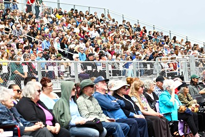 Panther Stadium was packed for the 54th commencement ceremony for McKinleyville High School. (José Quezada—For the Times-Standard)