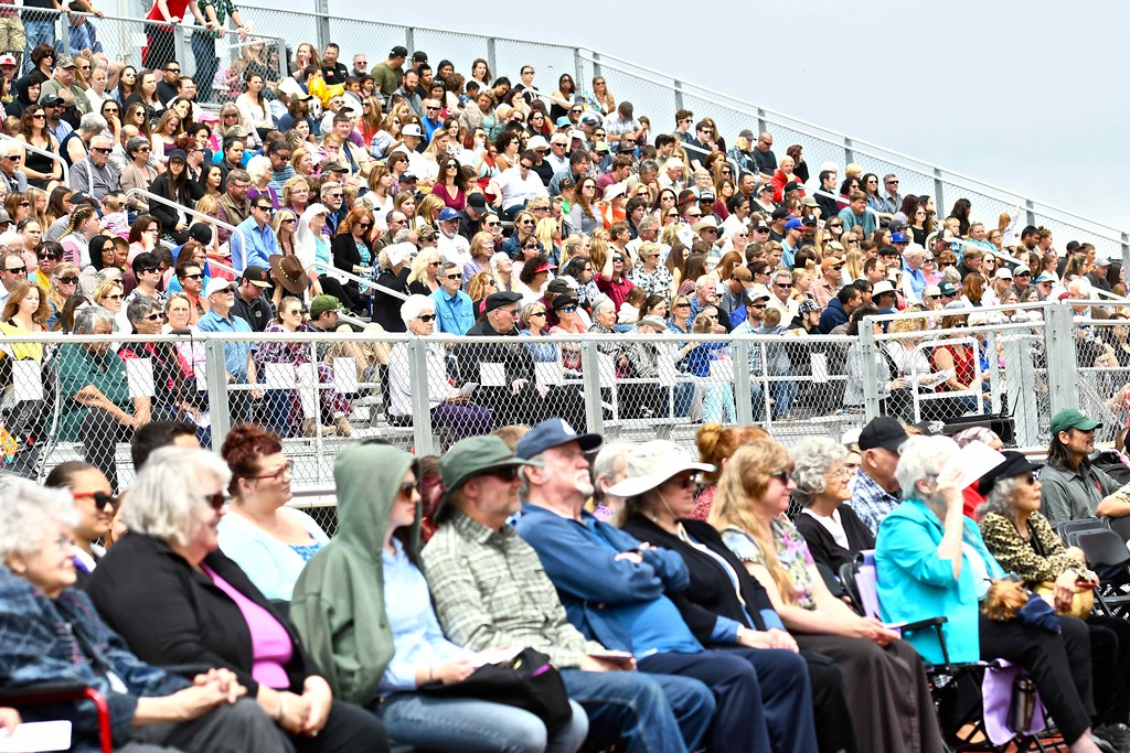 . Panther Stadium was packed for the 54th commencement ceremony for McKinleyville High School. (José Quezada�For the Times-Standard)