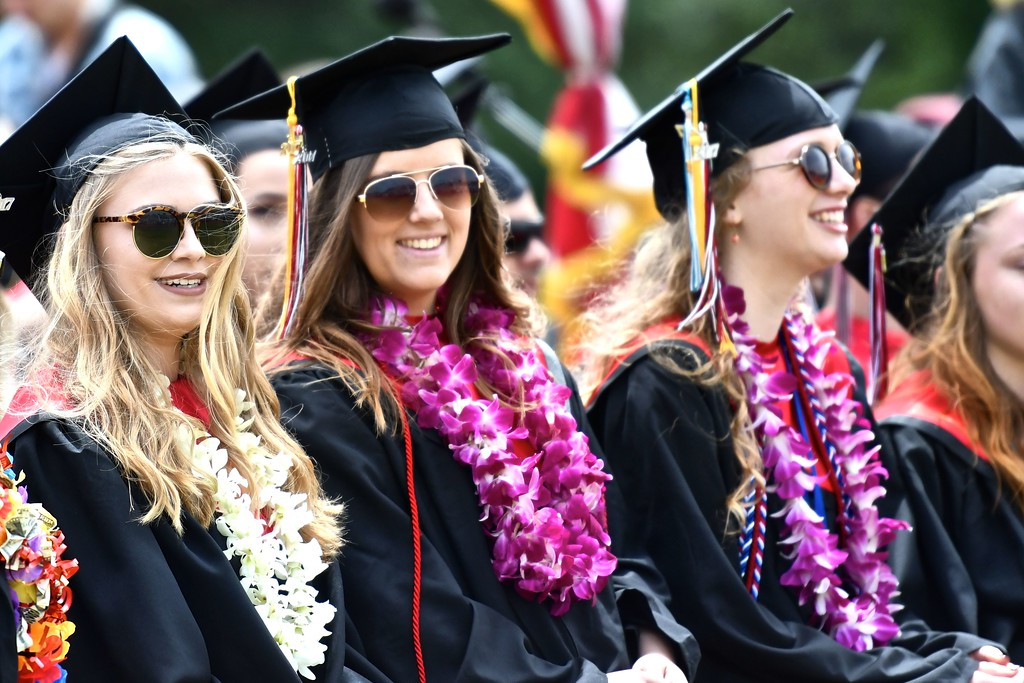 . The future is pearly white positive for these McKinleyville High School graduates. (José Quezada�For the Times-Standard)