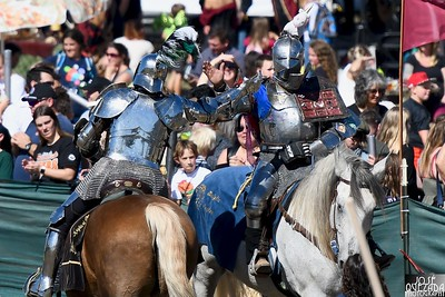 Knights of Mayhem iron hand to bare hand after the joust completed. José Quezada—For Times-Standard