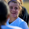 Mountain View's Kaley Barker smiles after the win over Resurrection Christian on Tuesday March 20, 2018 at MVHS. (Cris Tiller / Loveland Reporter-Herald)