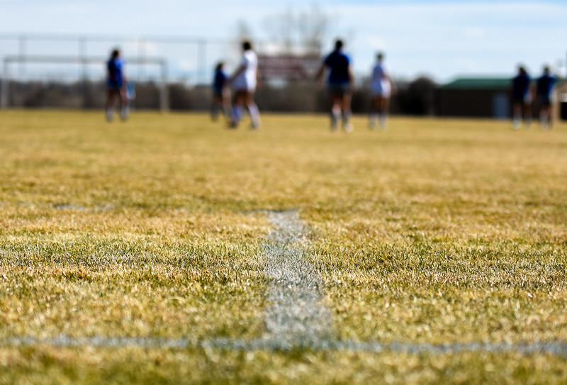 Mountain View and Resurrection Christian girls soccer compete on Tuesday March 20, 2018 at MVHS. (Cris Tiller / Loveland Reporter-Herald)
