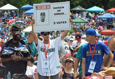 KYLE MENNIG - ONEIDA DAILY DISPATCH Fans at the National Baseball Hall of Fame Induction Ceremony in Cooperstown on Sunday, July 24, 2016.