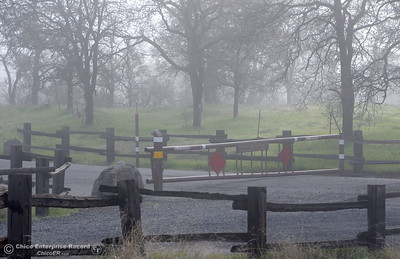 A closed gate to Upper Bidwell Park by Horseshoe Lake Monday Dec. 12, 2016. The Natural Resource Committee of the Bidwell Park and Playground Commission is considering what to do with the far reaches of the upper Bidwell Park Road. (Bill Husa -- Enterprise-Record)