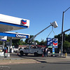 What was once a Sinclair gas station has become a Chevron gas station, and a new sign is installed Thursday, April 28, 2016, at First Avenue and Mangrove in Chico, California. (Dan Reidel -- Enterprise-Record)