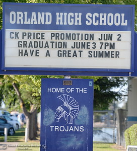 as parents and graduates of the class of 2016 celebrate Orland High School's 120th year at Roosevelt Field on the Orland High School campus Friday June 3, 2016. (Bill Husa -- Enterprise-Record)