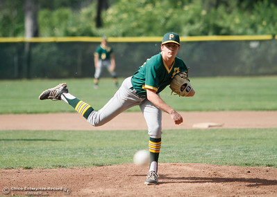 Paradise's starter Kevin Ferreira went 5.1 innings in a losing effort at Pleasant Valley April 19, 2016 at Hooker Oak Park in Chico, Calif. (Emily Bertolino -- Enterprise-Record)