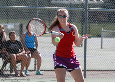 Photos taken during a tennis match between Chico and Pleasant Valley High Schools September 21, 2016 at the 20th Street Park in Chico, Calif. (Emily Bertolino -- Enterprise-Record)