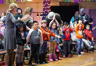 Shaun Walker — The Times-Standard  Some of hundreds of school children dance and clap in the Eureka Muni at one of two Redwood Coast Music Festival kids concerts on Friday morning. The big annual festival continues today and tomorrow with live music from 35 bands and dancing in six venues in Eureka. Saturday night features a headline performance by Roomful of Blues, a swing dance event, and Old Town Rhythm and Roots in conjunction with Arts Alive! For more information, go to rcmfest.org.