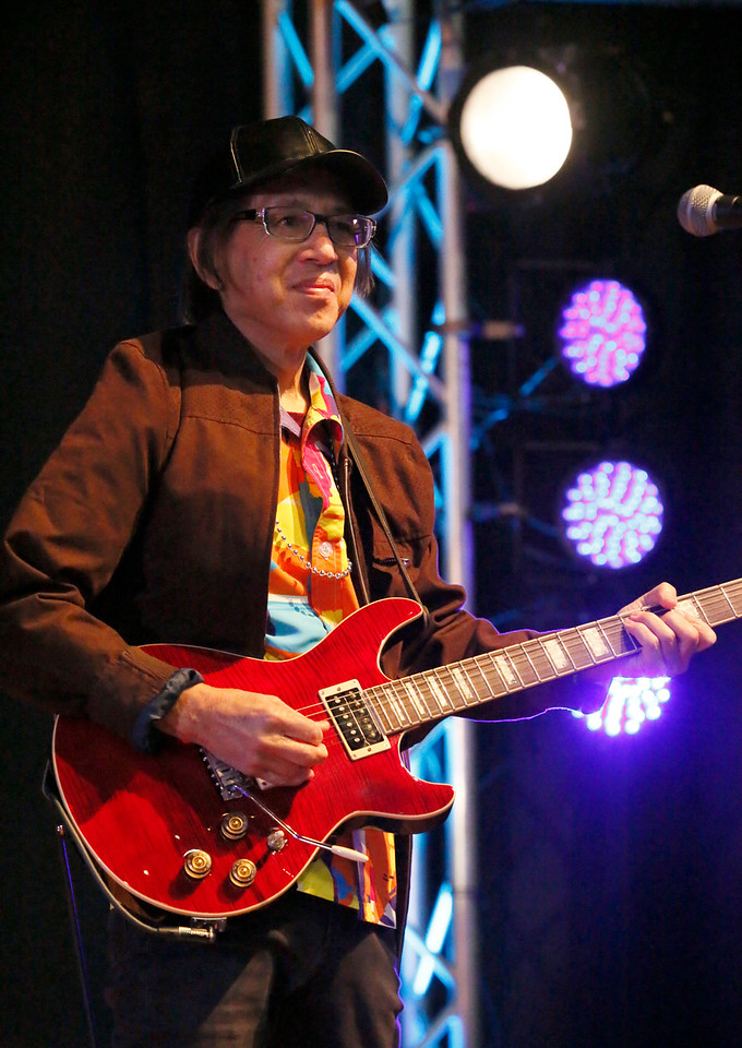 Shaun Walker — The Times-Standard  Gator Nation guitarist Randy Quan performs in the Eureka Muni at one of two Redwood Coast Music Festival kids concerts on Friday morning. The big annual festival continues today and tomorrow with live music from 35 bands and dancing in six venues in Eureka. Saturday night features a headline performance by Roomful of Blues, a swing dance event, and Old Town Rhythm and Roots in conjunction with Arts Alive! For more information, go to rcmfest.org.