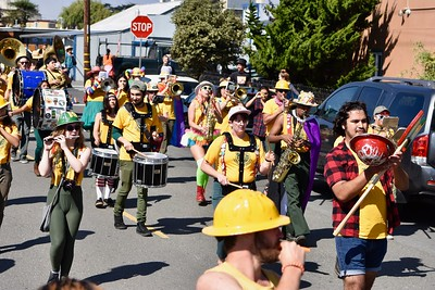 Rhythm and tonality give the Redwood Pride parade some musical foundation. (Jose Quezada — For the Times-Standard)