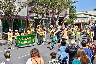 A mix of silly with music brought cheers from the crowd lining Arcata Plaza for the Redwood Pride parade. (Jose Quezada — For the Times-Standard)