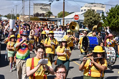 Moms, dads, brothers, sisters, grandpas and grandmas, families, friends and others joined together in a large Redwood Pride parade . (Jose Quezada — For the Times-Standard)
