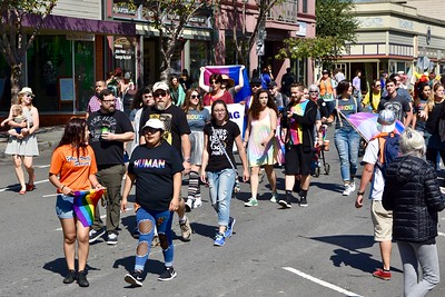 Moms, dads, brothers, sisters, grandpas and grandmas, families, friends and others joined together in large Redwood Pride parade Sunday in Arcata. (Jose Quezada — For the Times-Standard)
