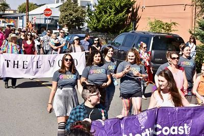 Proud marchers show pride. (Jose Quezada — For the Times-Standard)